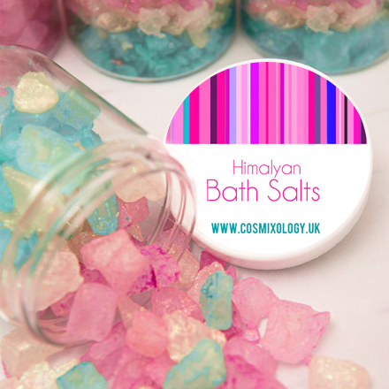tinted bath salts